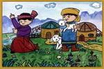 牧歌儿童画3幅