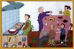 老人节儿童画