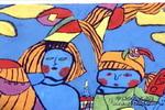童年的思绪儿童画作品欣赏