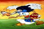 快乐的唐老鸭儿童画