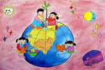爱地球儿童画作品欣赏
