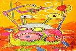 螃蟹画画儿童画