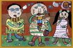 吸烟有害儿童画