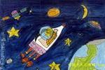 我也当宇航员儿童画