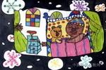 温暖的冬天儿童画图片