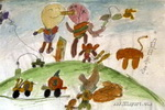 外星人儿童画5幅