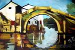 小桥流水儿童画作品欣赏