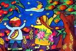 收获的日子儿童画作品欣赏