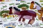 草原上的马儿童画图片