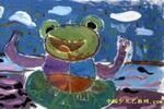 我是指挥家儿童水粉画