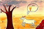 寻找绿色的小羊儿童画作品欣赏