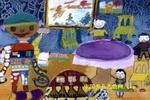 现代化家庭儿童画