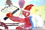 儿童画/圣诞节儿童画2幅