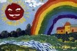 雨后彩虹儿童画