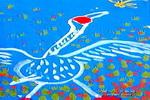 大白鹅儿童画作品欣赏