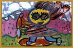 飞快的滑板车儿童画