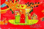 大树上的家儿童画作品欣赏