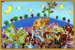 梦里的景色儿童画