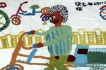 骑三轮车的人儿童画作品欣赏