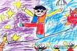 走钢丝儿童画作品欣赏