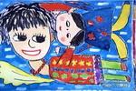 我和妈妈一起飞儿童画作品欣赏