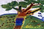 美丽的树儿童画3幅