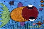可爱的鱼宝宝儿童画