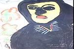 穿黑衣的人儿童画图片