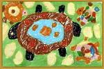 乌龟妈妈生病了儿童画