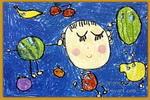 我做了个水果梦儿童画
