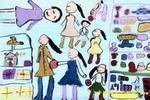 逛商场儿童画