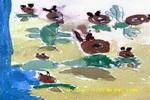 空中的小鸟儿童画