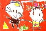 黑猫警长和葫芦娃儿童画作品欣赏