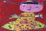 新裙子儿童画作品欣赏