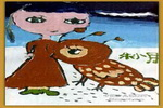我和大鸟是好朋友儿童画