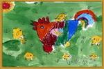 儿童画/鸡妈妈和小鸡儿童画