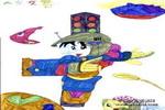宇宙警察儿童画作品欣赏