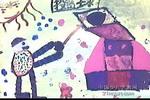 投篮儿童画作品欣赏