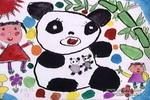 熊猫妈妈,真棒!儿童画作品欣赏