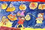 点灯笼儿童画作品欣赏