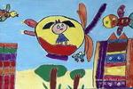 幻想飞行儿童画作品欣赏