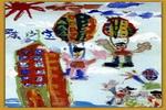 跳伞的人儿童画
