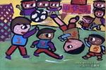 为世界杯加油儿童画作品欣赏
