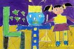 我和机器人打扫卫生儿童画
