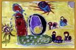 旅途路上儿童画
