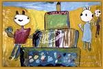 兔乖乖过生日儿童画