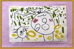 晒太阳的小兔子儿童画