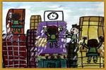 清洗大楼儿童画