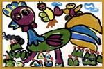 漂亮的花衣裳儿童画