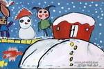 下雪,真爽儿童画作品欣赏
